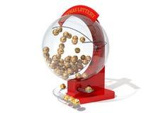Red christmas lottery machine. Stock Photo