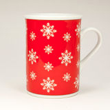 Red Christmas mug Stock Photography