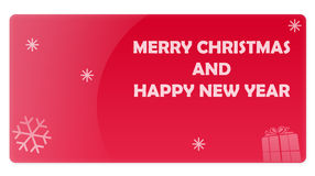 Red Christmas New Year Gift Card Royalty Free Stock Photo