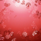 Red Christmas New year snow fall background Royalty Free Stock Photo