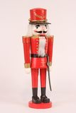 Red Christmas Nutcracker. Isolated View of a Red Christmas Nutcracker Royalty Free Stock Image