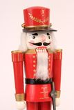 Red Christmas Nutcracker. Isolated View of a Red Christmas Nutcracker Stock Photography