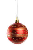 Red Christmas Ornament. Isolated over white background stock photography