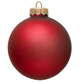 Red christmas ornament . Royalty Free Stock Image