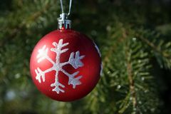 Red Christmas ornament  Royalty Free Stock Photography