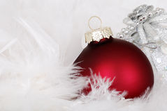 Red christmas ornament Royalty Free Stock Images