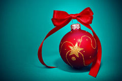 Red Christmas Ornament Stock Image