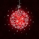 Red Christmas ornament ball Royalty Free Stock Image