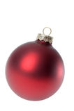 Red Christmas ornament / bauble on white Royalty Free Stock Image