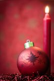Red Christmas ornament Stock Photography