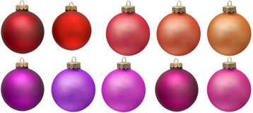 Red christmas ornament collection. Royalty Free Stock Images