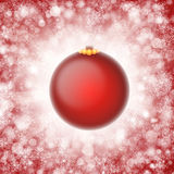 Red christmas ornament illustration Royalty Free Stock Photography