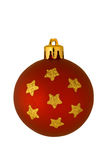 Red christmas ornament isolated Stock Image
