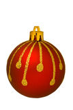 Red christmas ornament - isolated Royalty Free Stock Photos