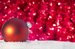 Red christmas ornament in a pile Royalty Free Stock Photos