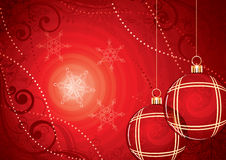 Red Christmas ornaments Royalty Free Stock Photos