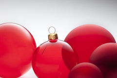Red Christmas Ornaments. A still-life of red christmas ornaments Royalty Free Stock Photo