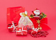 Red Christmas ornaments Stock Image
