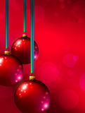 Red Christmas ornaments  Royalty Free Stock Images