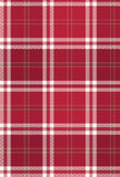 Red Christmas Plaid Fabric Pattern Stock Image