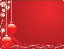 Red Christmas postcard Royalty Free Stock Images