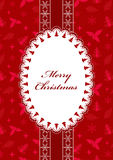 Red Christmas postcard. Stock Image