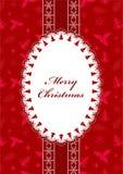 Red Christmas postcard. Stock Image
