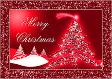 Red Christmas postcard royalty free stock photos