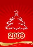 Red Christmas postcard royalty free illustration