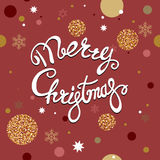 Red christmas postcard Royalty Free Stock Photo