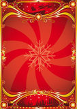 Red christmas poster Royalty Free Stock Image