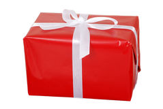 Red christmas present Stock Photography