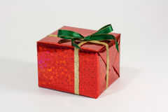 Red Christmas present Royalty Free Stock Images