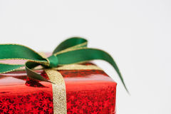 Red Christmas present Royalty Free Stock Photography