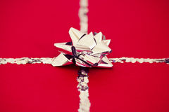 Red Christmas present Stock Images