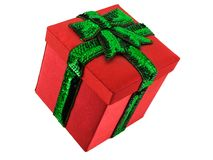 Red christmas present Royalty Free Stock Photos