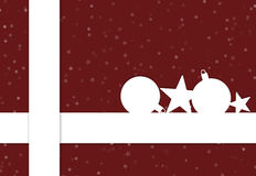 Red christmas present. Big red christmas present with christmas decorations Royalty Free Stock Photo
