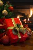 Red Christmas Present Stock Image