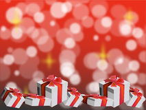 Red Christmas presents. Stock Photo