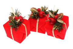 Red Christmas Presents Stock Photos
