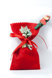 Red Christmas Presents Bag Royalty Free Stock Image