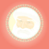 Red christmas retro decoration design Royalty Free Stock Photography