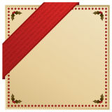 Red christmas ribbon Royalty Free Stock Photo