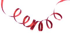 Red christmas ribbon Royalty Free Stock Photos