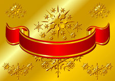 Red Christmas ribbon Royalty Free Stock Images