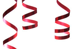 Red Christmas ribbons Royalty Free Stock Images