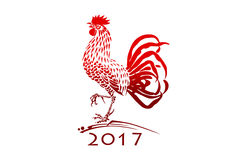 Red Christmas rooster Royalty Free Stock Photo