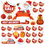 Red Christmas sale royalty free illustration