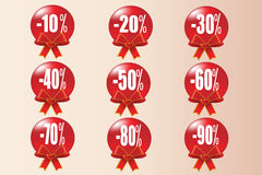 Red  Christmas Sale İcon Background Stock Photo