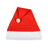 Red Christmas Santa Claus hat. Isolated in white Stock Images